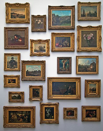 Old Frames Collected But Maybe With Modern Images Inside Not Obvious Gold Frame Gallery Wall Gallery Wall Frames Beautiful Wall Decor