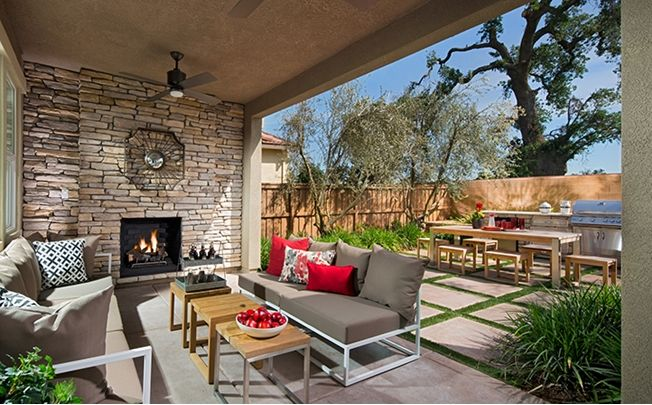 The California Room With Optional Fireplace Is The Perfect Place To Entertain Year Round Residence Six A New Homes New Homes For Sale Outdoor Furniture Sets