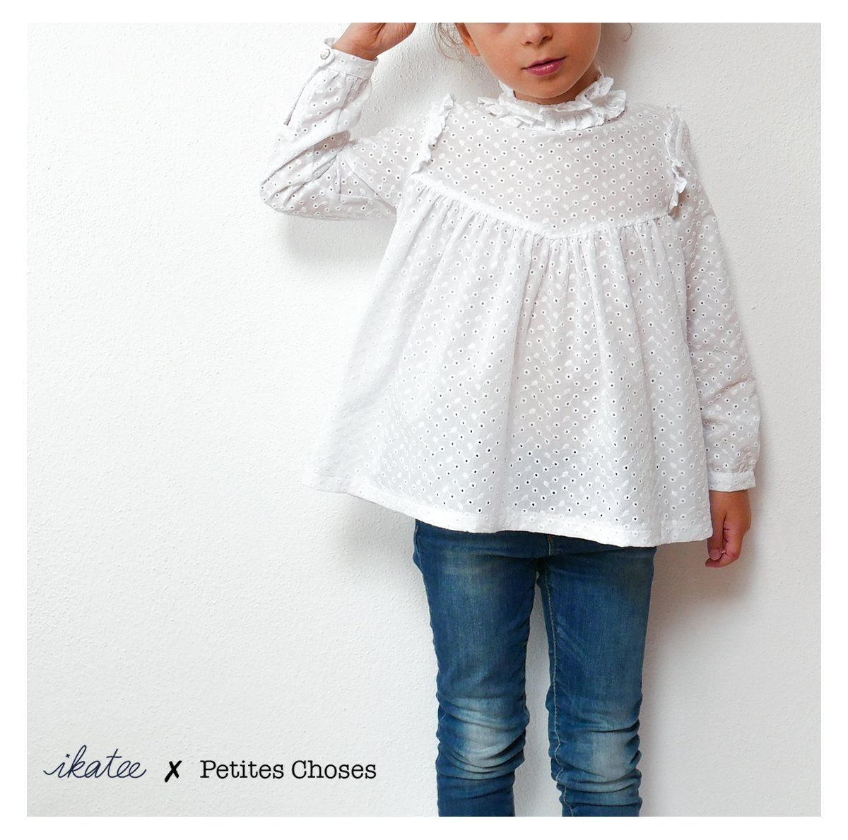 7c57a12bd1dd1 Patron de couture Blouse   Robe LOUISE PDF 3-12A