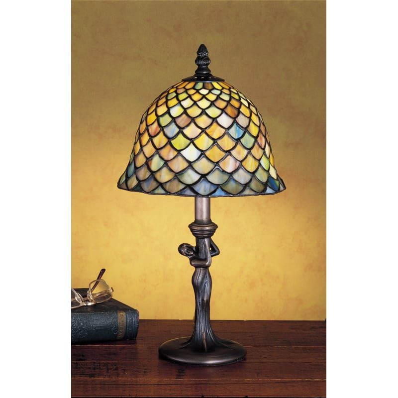 Meyda Tiffany 30315 Tiffany Glass Stained Glass Tiffany Accent Table Lamp From The Tiffany Fishscale Collection Stained Glass Lamp Shades Stained Glass Lamps Lamp