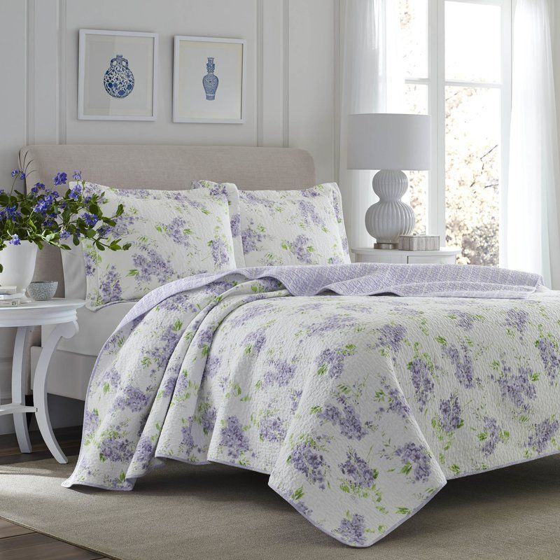 Keighley Cotton Reversible Quilt Set By Laura Ashley Home
