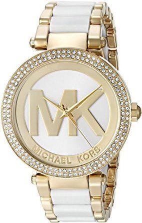 699b932849d2 Amazon.com  Michael Kors Women s MK6313 Parker Quartz Stainless Steel  Casual Watch  Clothing