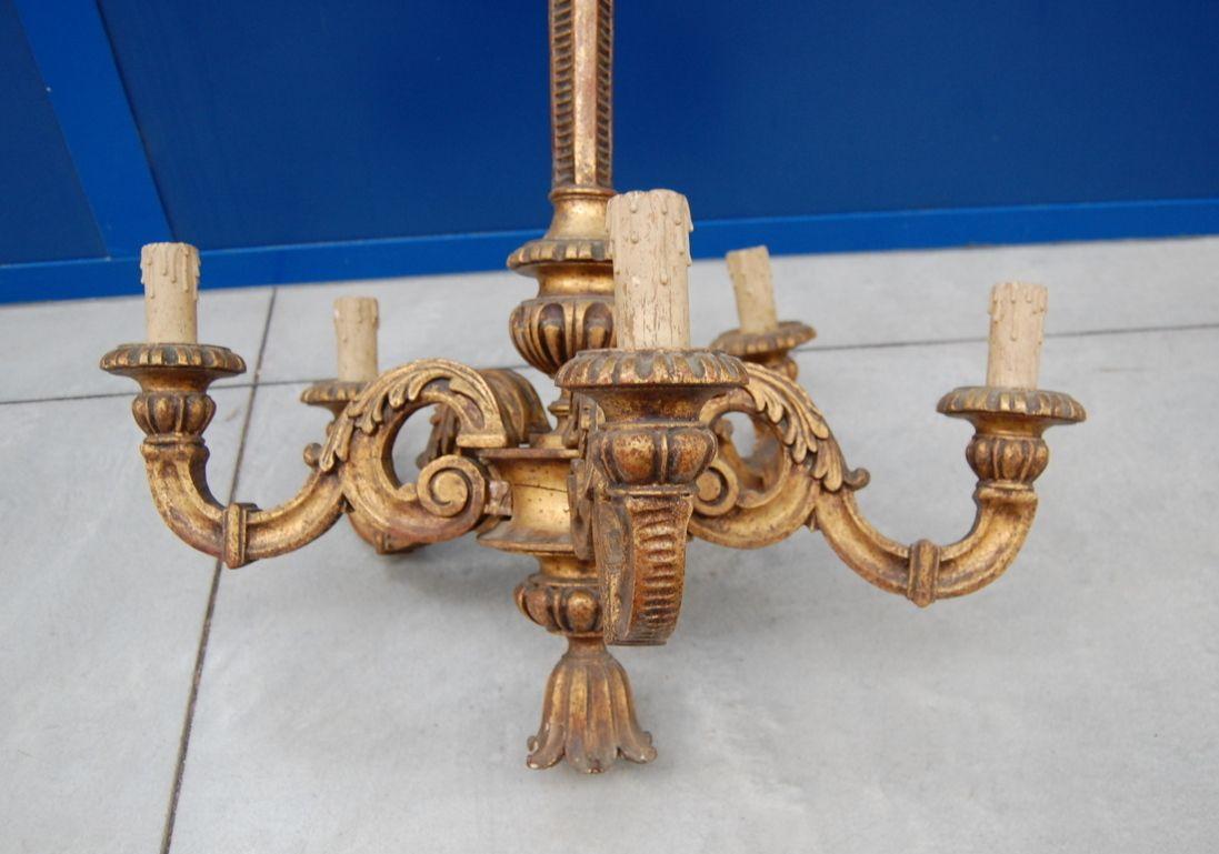 Lampadari antichi in legno dorato lampadario legno dorato
