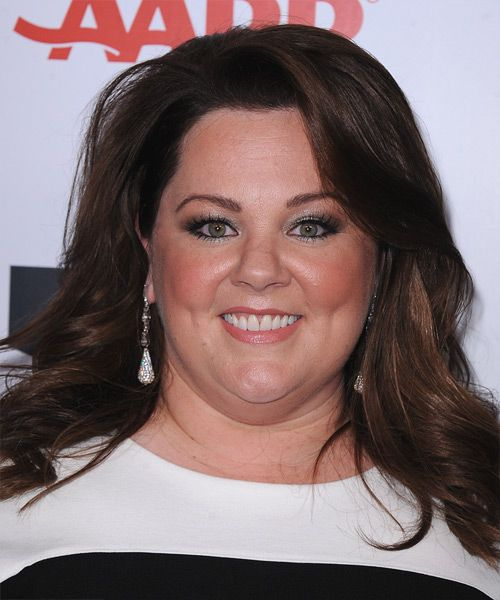 Melissa Mccarthy Hairstyles Simple Melissa Mccarthy Long Straight Casual Hairstyle  Dark Mocha