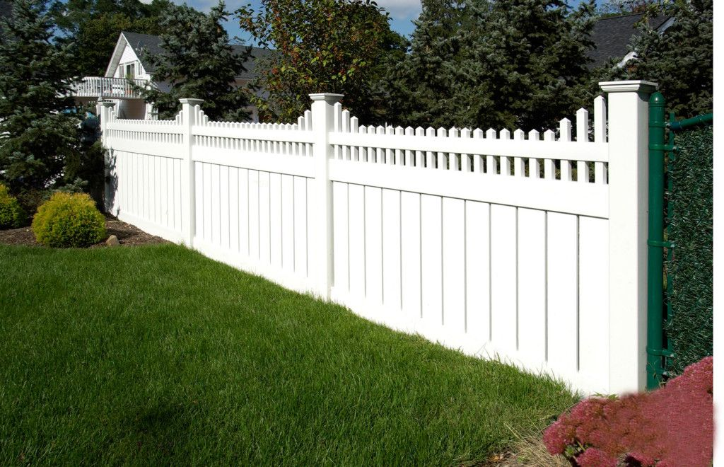 Steccato Per Giardino In Pvc : Images of illusions pvc vinyl wood grain and color fence gardening