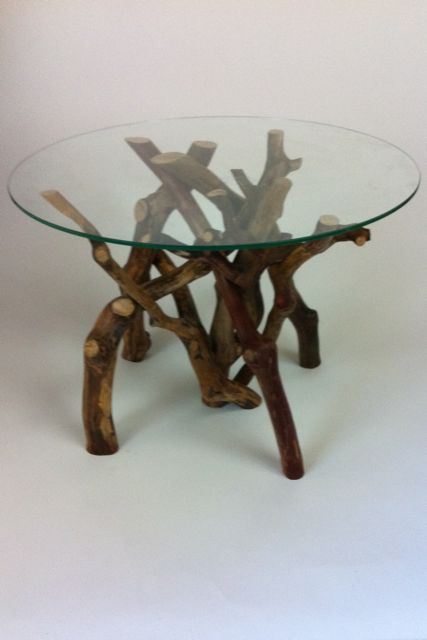 glass table top view. Fine Glass Tangle Table Made From Stripped Rhododendron Branches Toughened Glass Top  Allows A Fantastic View To On Glass Table Top View
