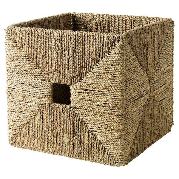 KNIPSA Basket, seagrass, 12 ½x13x12 ½