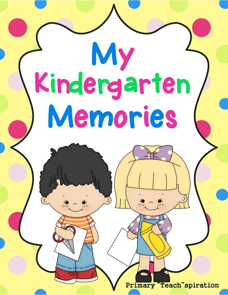 end of the year memory book kindergarten this memory book includes 19 black and - Color Books For Kindergarten