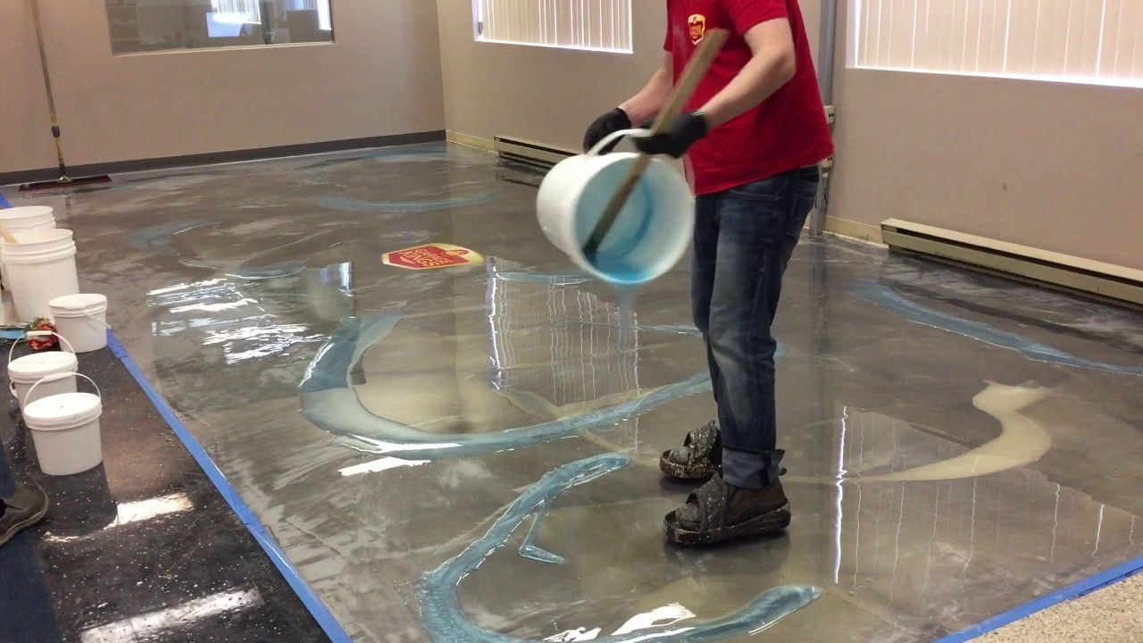How To Do Amazing Metallic Epoxy Floor! (With images