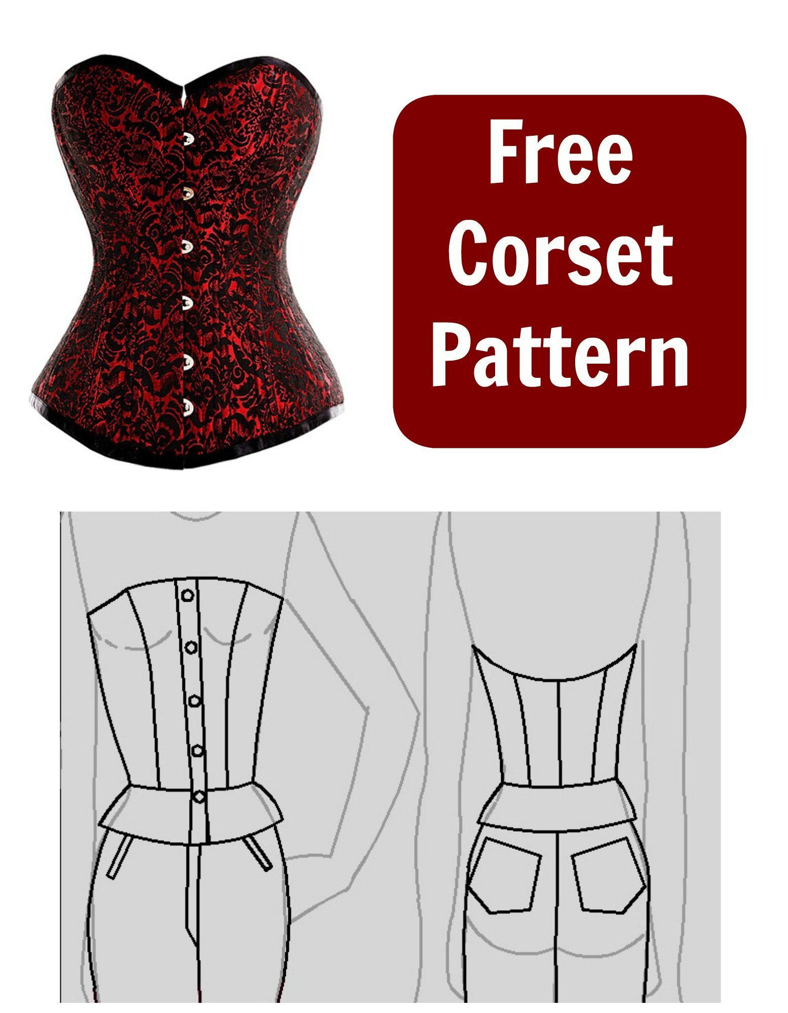Free Corset Pattern | корсеты,нижнее белье,купальники | Pinterest ...