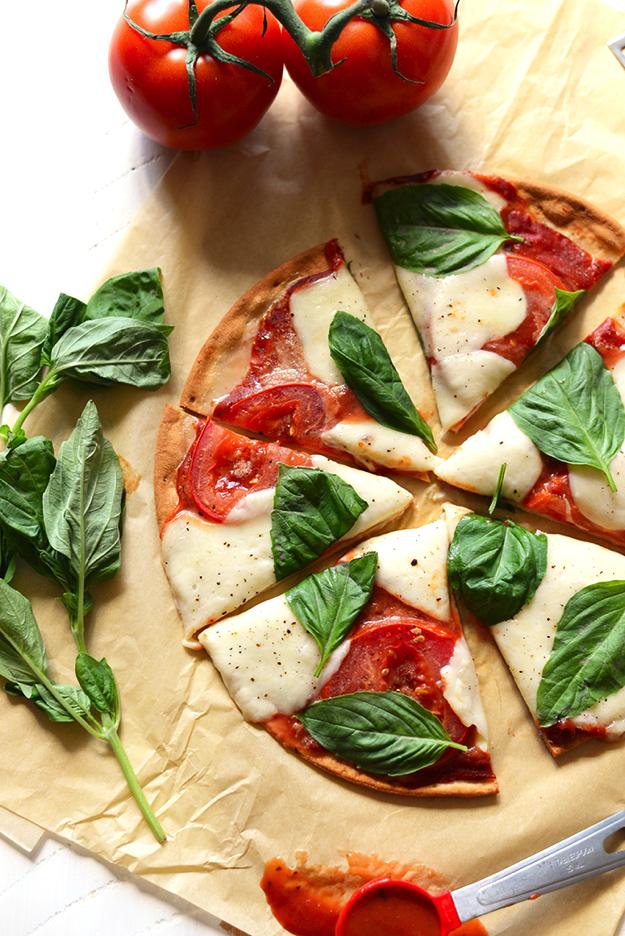 gluten-free marghertia pizza
