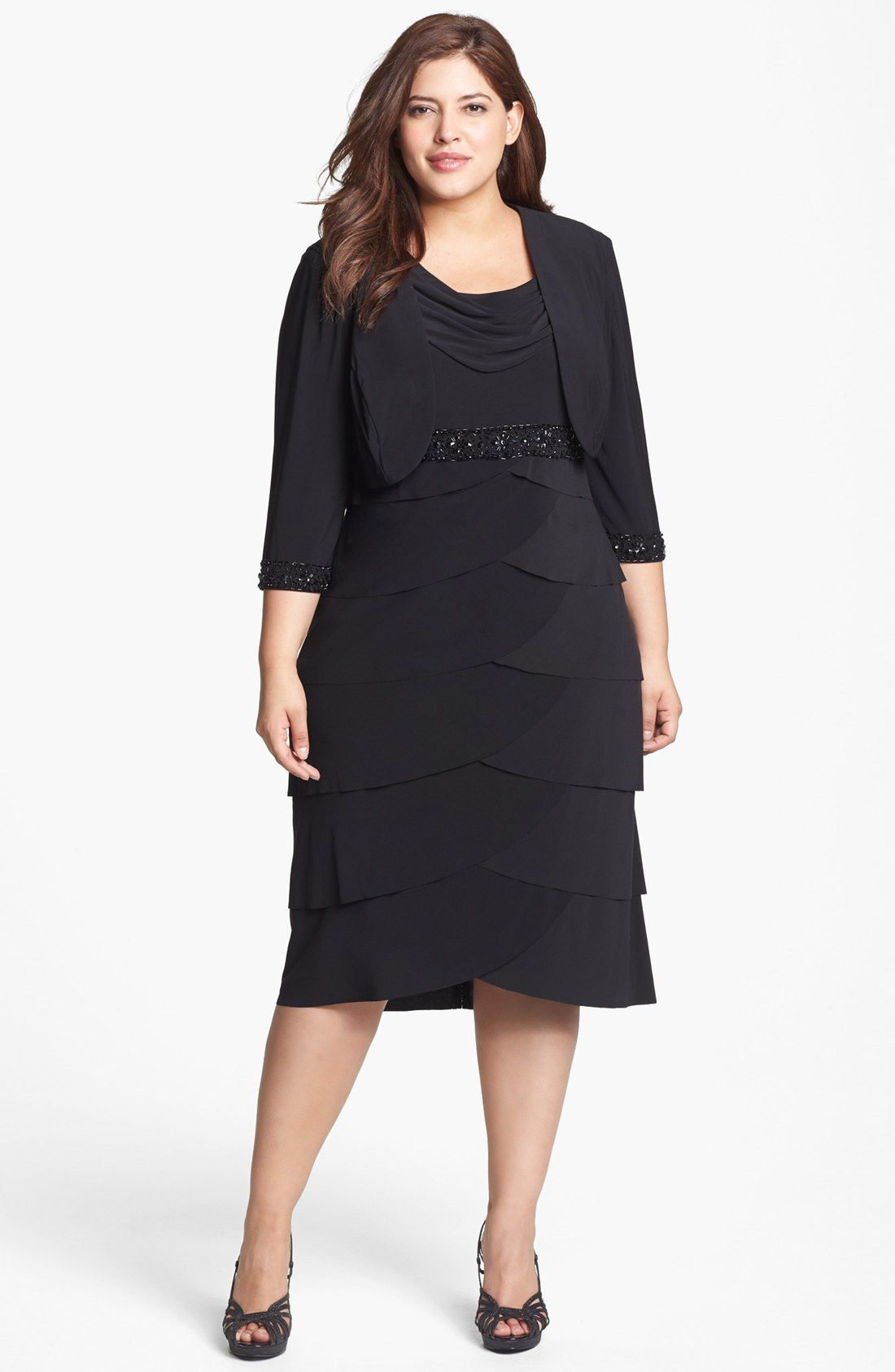 Alex Evenings Beaded Dress & Jacket (Plus Size) | Nordstrom | Styles ...