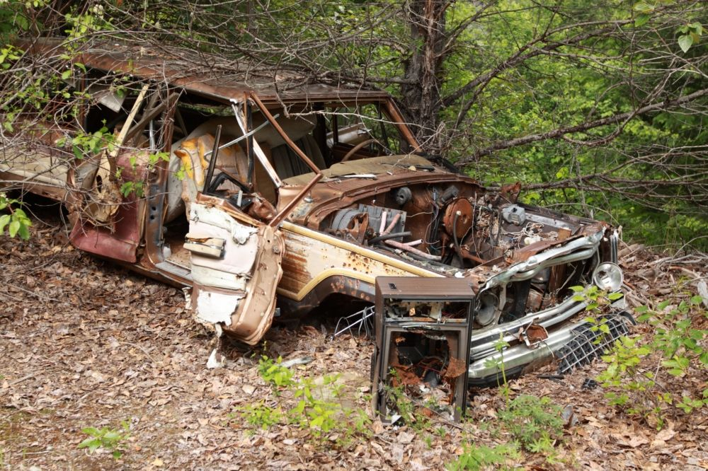 More Abandoned Vehicles Discovered In Forest | Old Vehicles ...