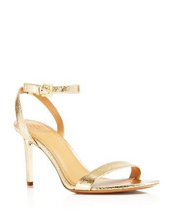 38721c0a186a Tory Burch Elana Metallic High Heel Sandals