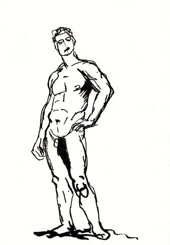 38 esquisses de homme femme plume encre brune dessins - Dessin arbre nu ...