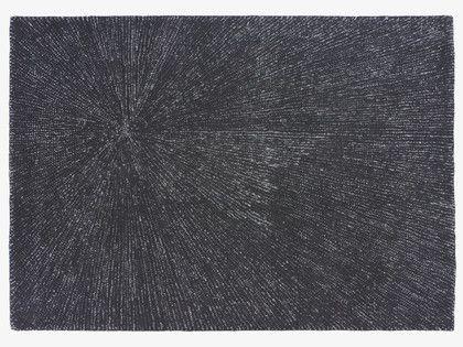 Fireworks Blacks Wool Black Wool Rug 170 X 240cm
