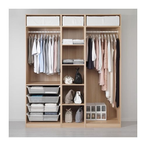 PAX Kledingkast, wit gelazuurd eikeneffect - Ikea pax kledingkast ...