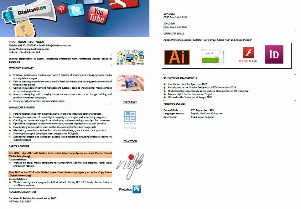Digital marketing resume sample fresh sample resumes in