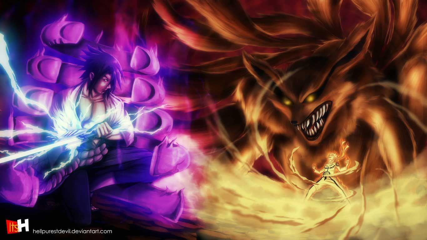 Naruto And Sasuke Vs Madara Wallpaper Naruto And Sasuke Animasi