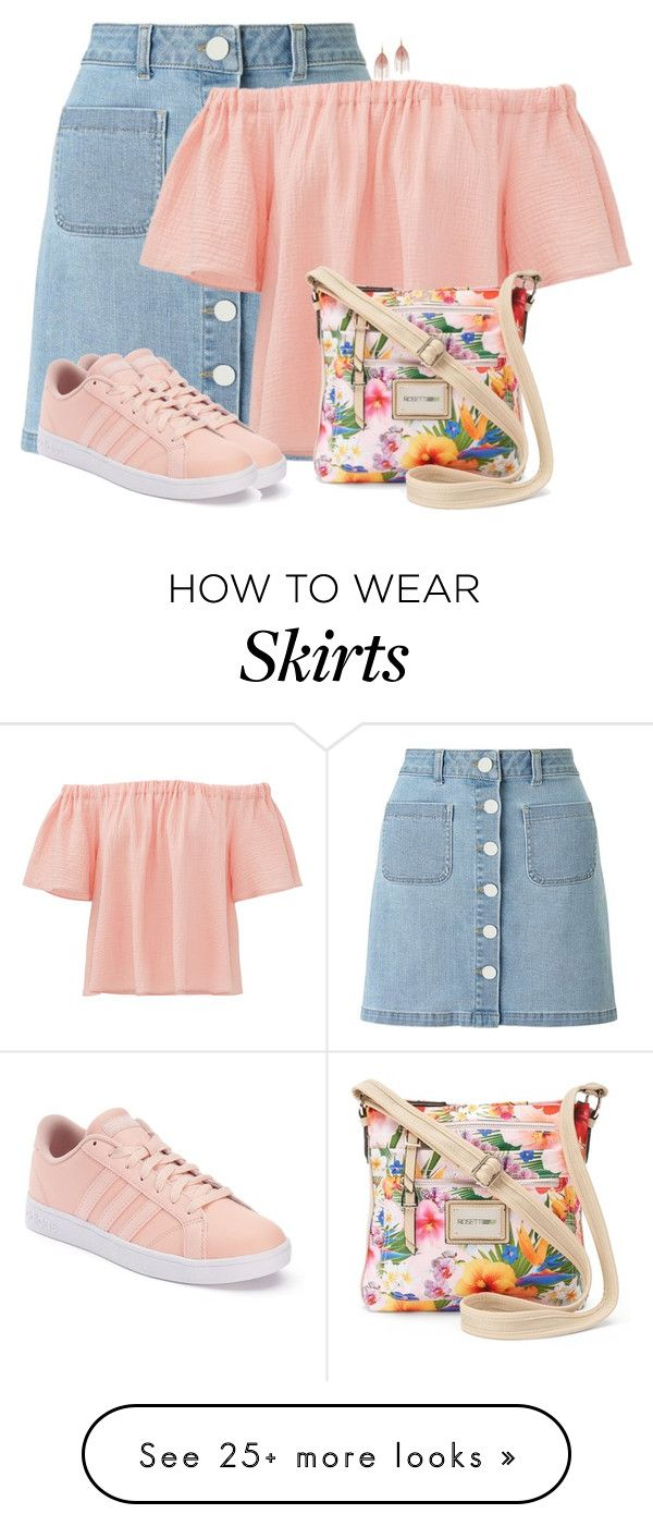 """Skirt & Sneakers"" by sherbear1974 on Polyvore featuring Miss Selfridge, Rebecca Taylor, adidas, Rosetti and Serefina"