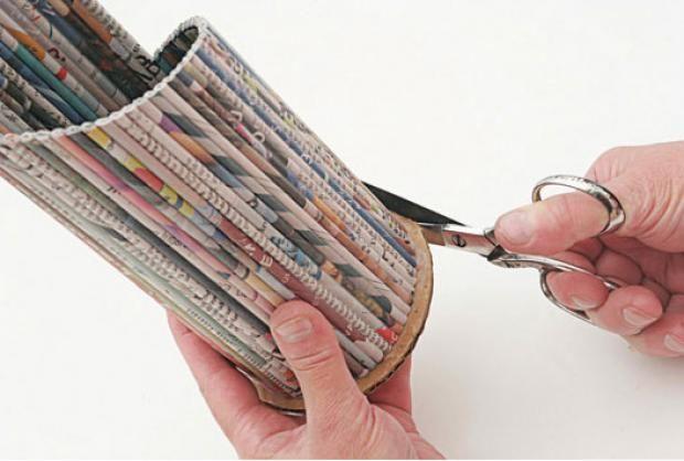 Porta Garrafa De Jornal Passo A Passo Artesanato De Revistas