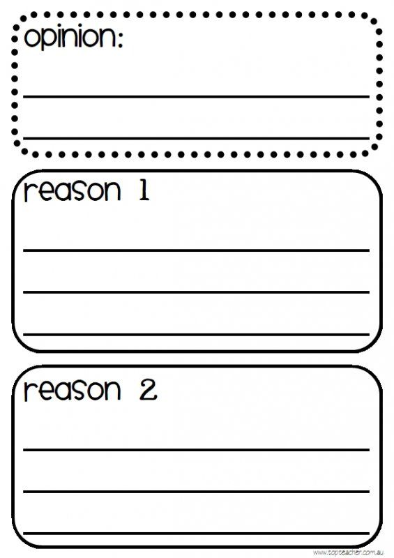 Beginning Opinion Writing Template  K Writing