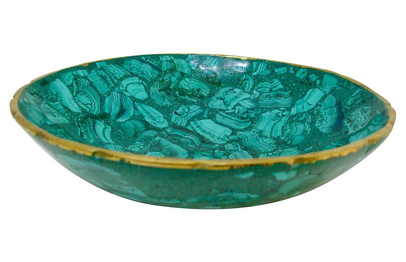 Tessellated Malachite And Bronze Bowl Malachite Decorative Bowls Bronze