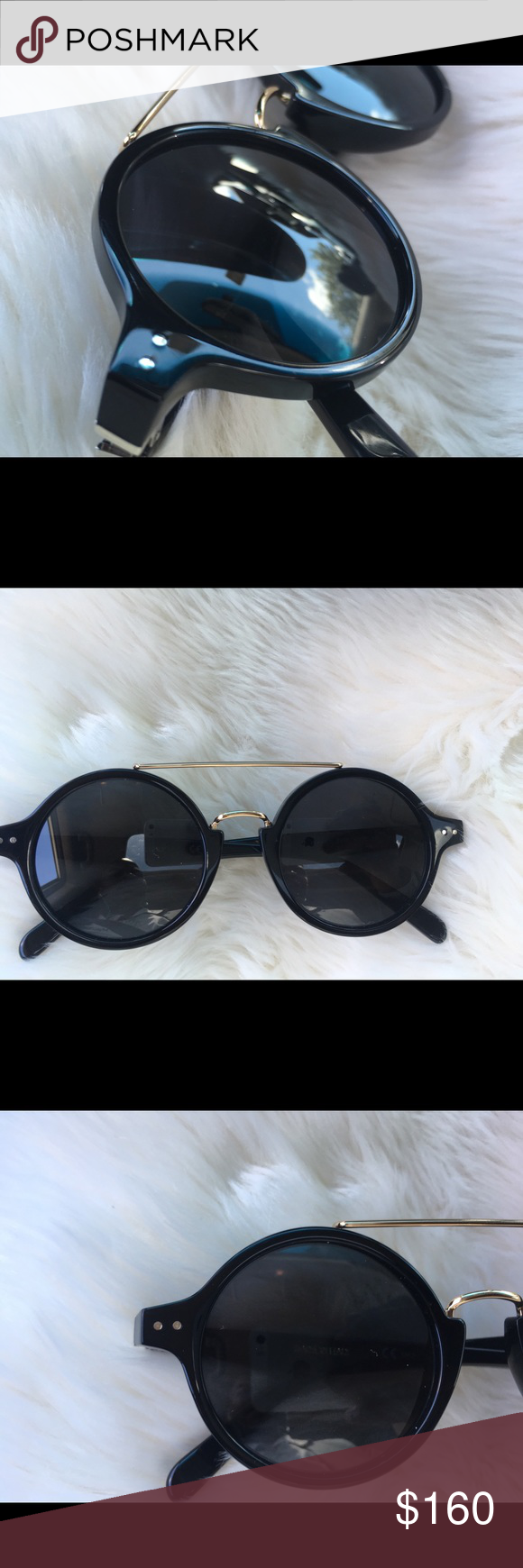 "b257f08e8f Celine Eyeglasses""Thin Ella"" Collection  2018 Reference  CL-41436 - 807 IR  Model  Women Frame material  Acetate Frame colour  Black and gold Lenses   Celine ..."