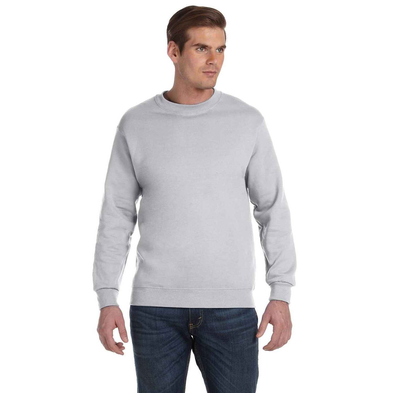 Gildan Men's Ash Cotton/ Fleece Big andTall Crewneck Sweater