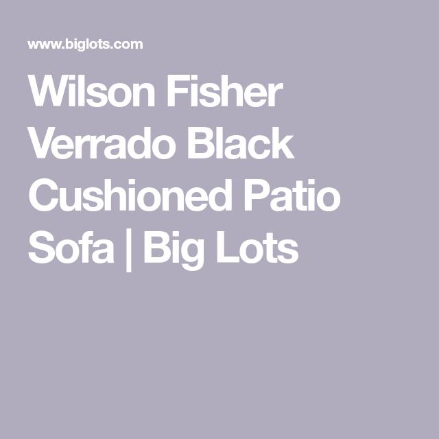 Real Living Verrado Black Cushioned Patio Sofa in 2020 ... on Wilson & Fisher Verrado Black Cushioned Patio Sofa id=69587