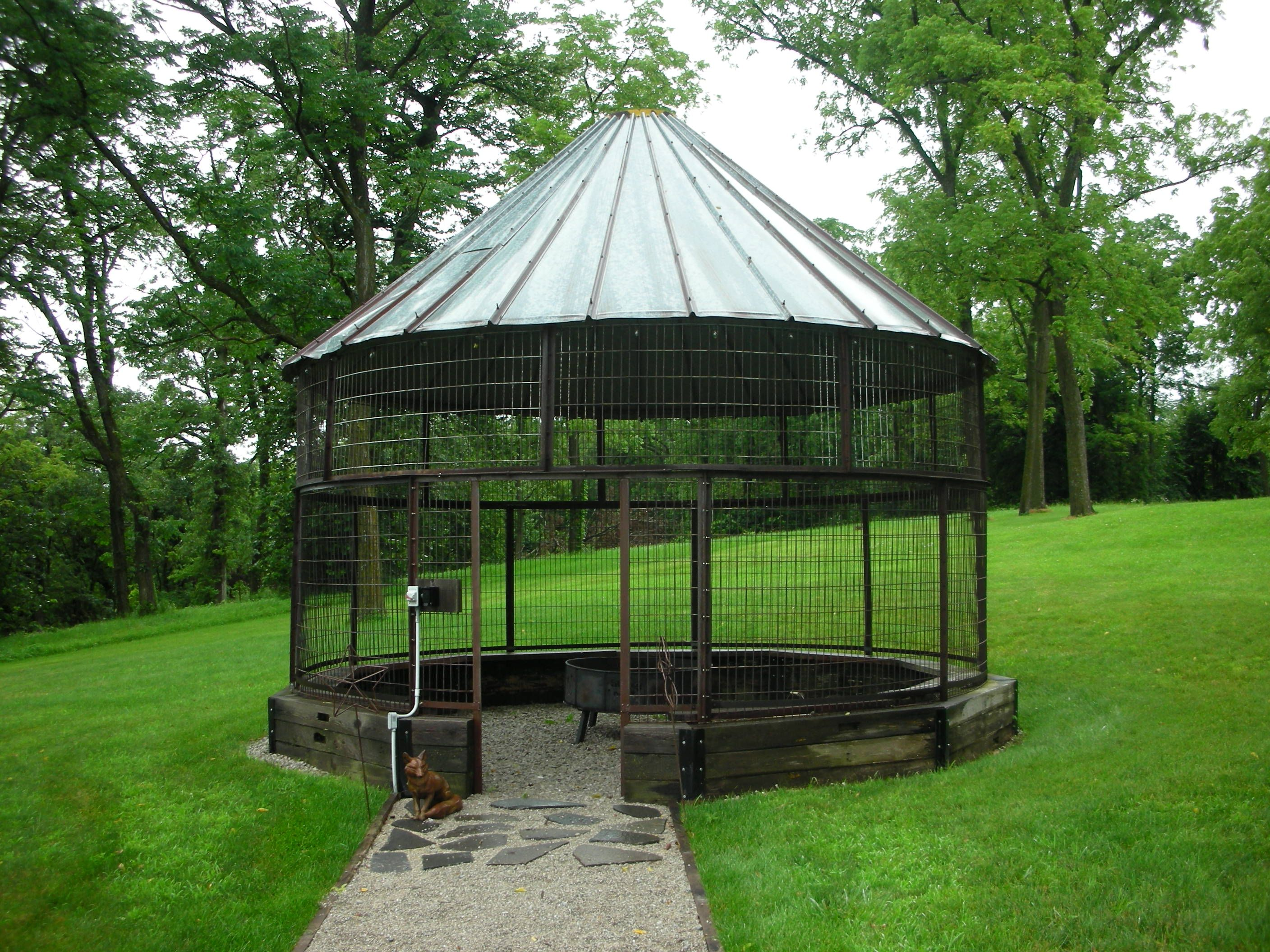 Corn Crib Recycled Into A Gazebo