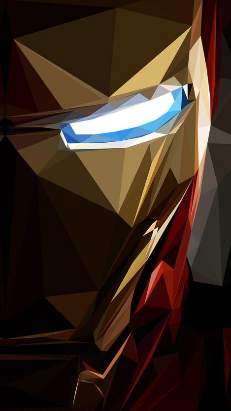 Iron Man Low Poly Art iPhone Wallpaper Iron man