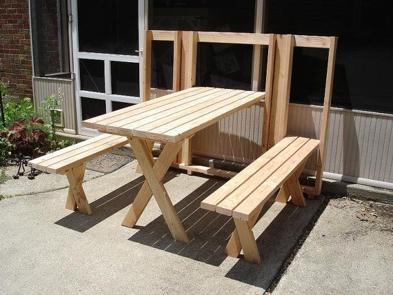 Items Similar To Murphy Style Fold Up Picnic Table On Etsy