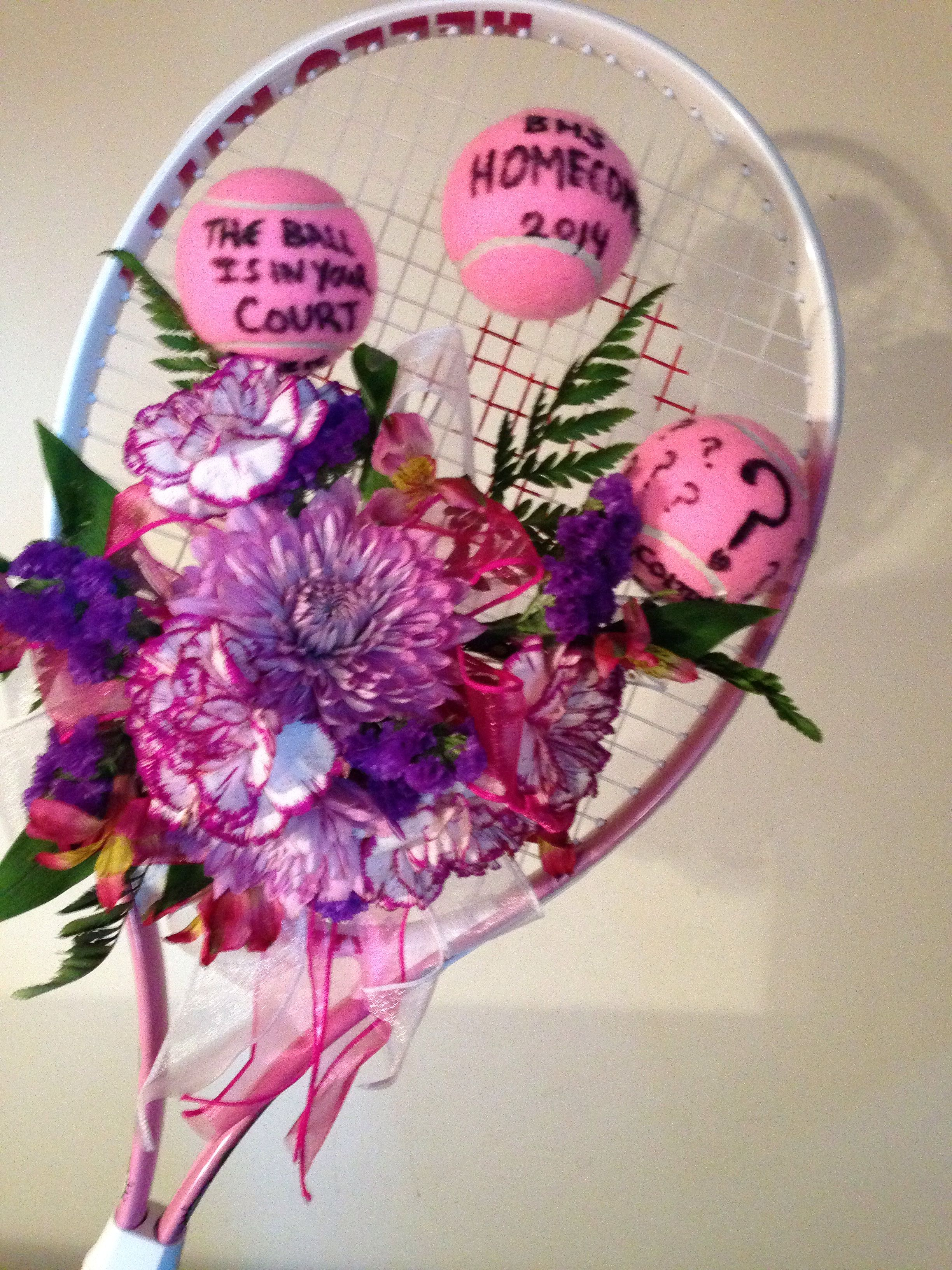 His Date Is A Tennis Playerte Homecoming Idea!