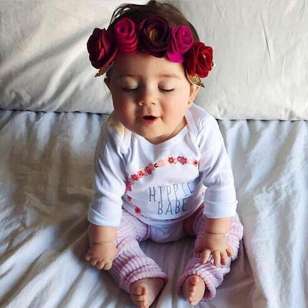 15pcs New Cute Girls Kids Baby Hawaiian Beach Flower Headband For