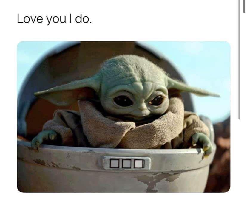 Pin By Maya Dee On Ways Of The Force Yoda Meme Star Wars Baby Star Wars Memes
