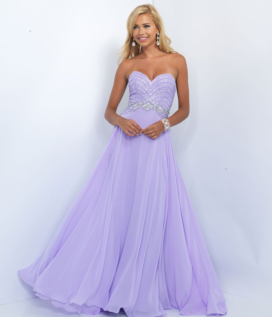 Lilac strapless sweetheart prom gown fairy tale pinterest