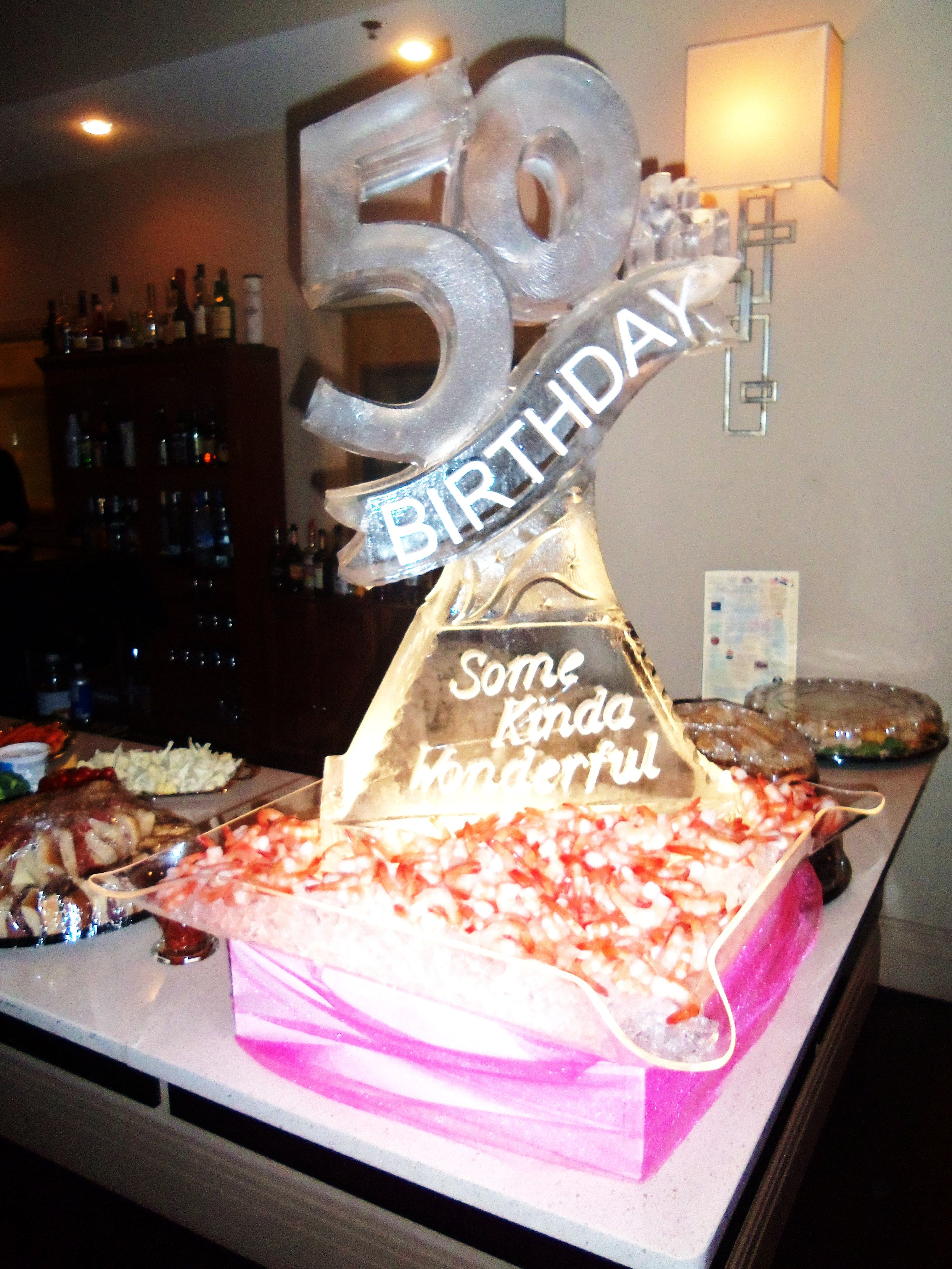 50th birthday ice sculpture in 2019 50th birthday party