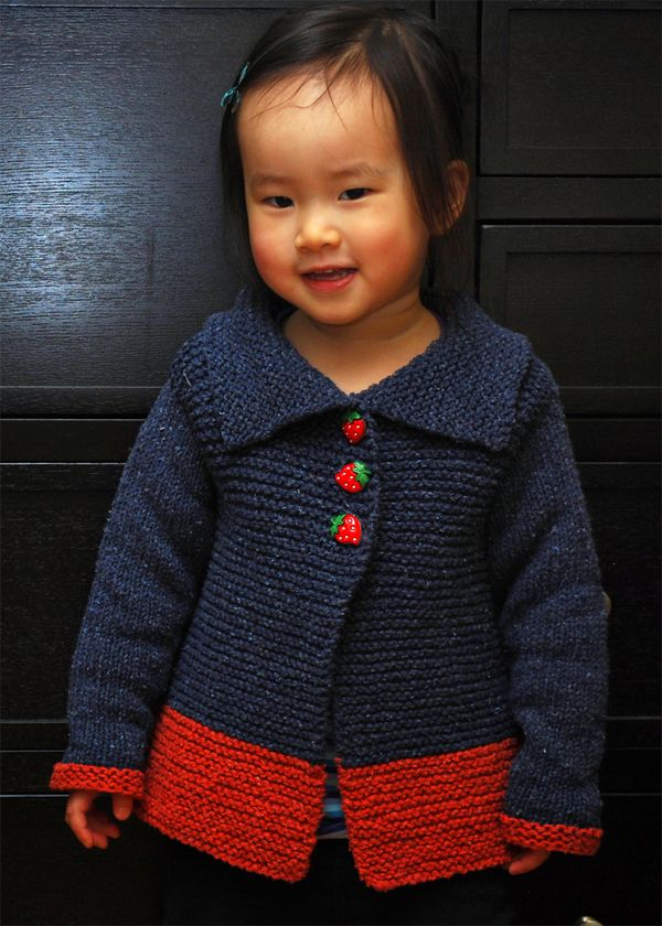 Free Knitting Pattern for Sawtelle Child\'s Cardigan - Easy sweater ...