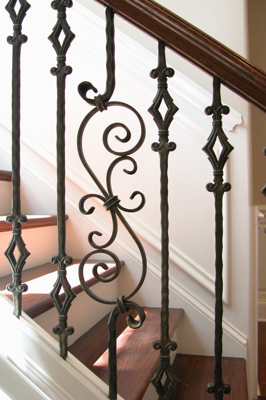 This Staircase Pattern Features Balusters From The Tuscan Square