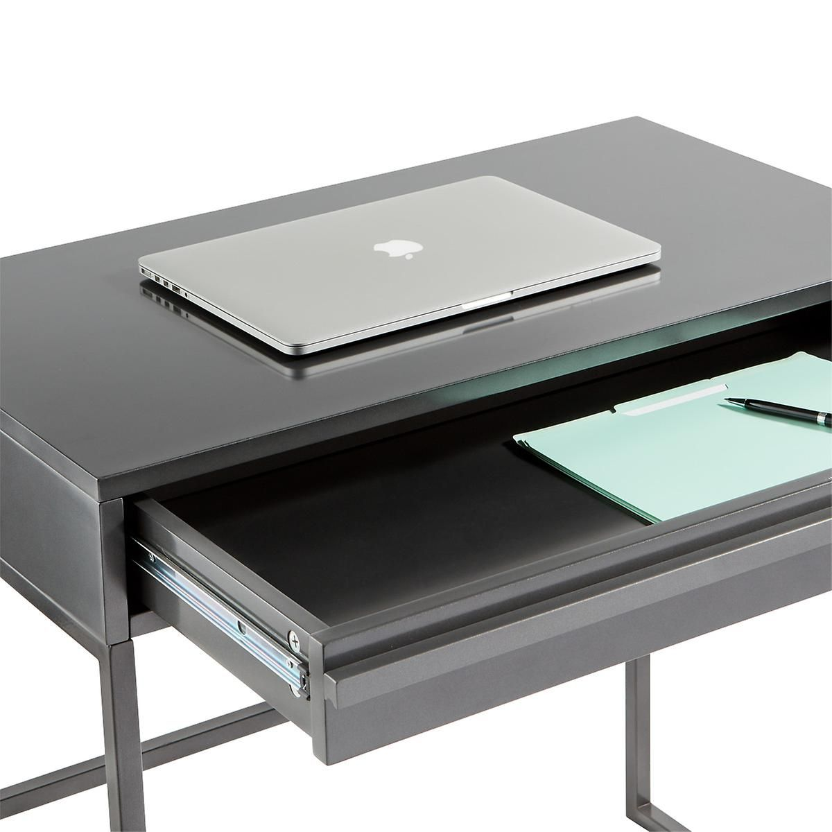 Anthracite Mod Desk The Container Store Chairs For Small Spaces Small Desk Traditional Writing Desk