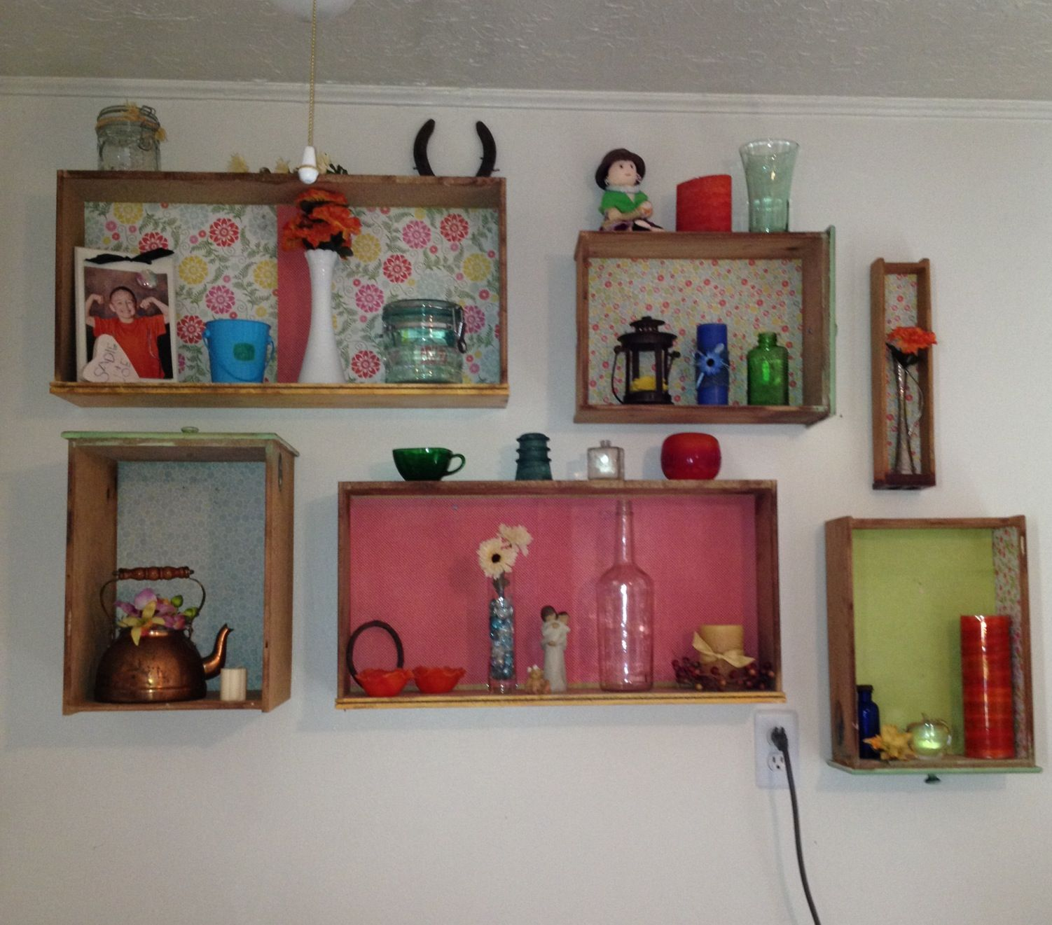 Old Drawers Made Into Cute Shelves To Display All Your Little Nick Nacks