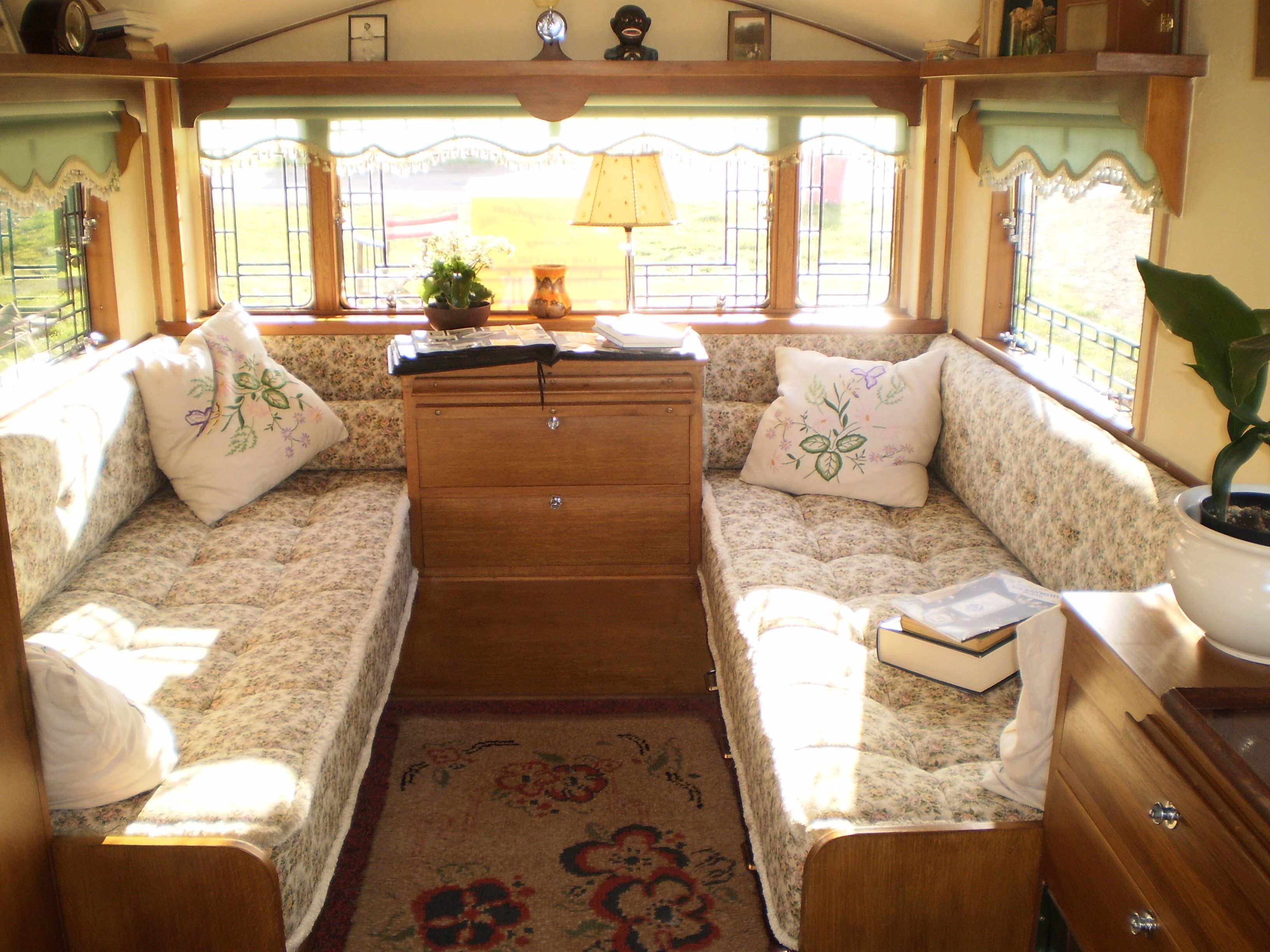 This is my 10 ft., 1955 Aljoa Sportsman done in a 1950's ...  |1950s Vintage Travel Trailers Inside