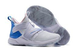 info for a7eeb d87b0 Nike LeBron Soldier 12 Summit White Provence Purple-BeachMateria AO2609-101  Men s Basketball Shoes James Trainers
