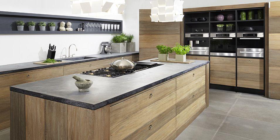 moderne küche kochinsel holz optik beige hochglanz fronten - u kchen mit insel