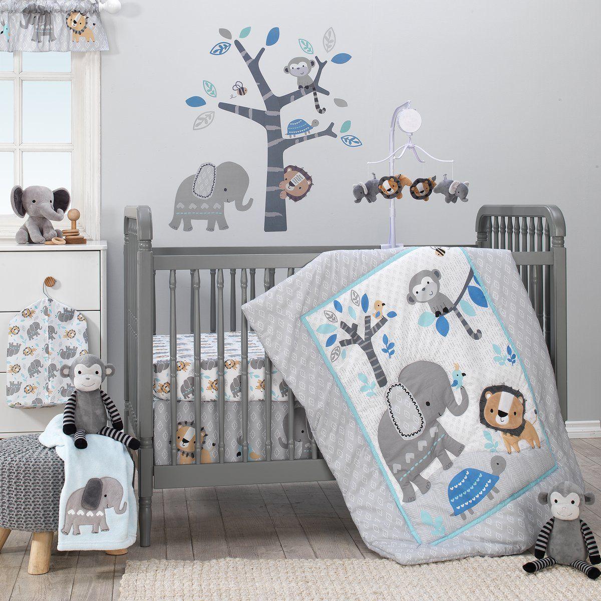 Jungle Fun 3 Piece Crib Bedding Set Baby Boy Room Nursery Crib Bedding Sets Baby Bed 3 piece crib bedding set