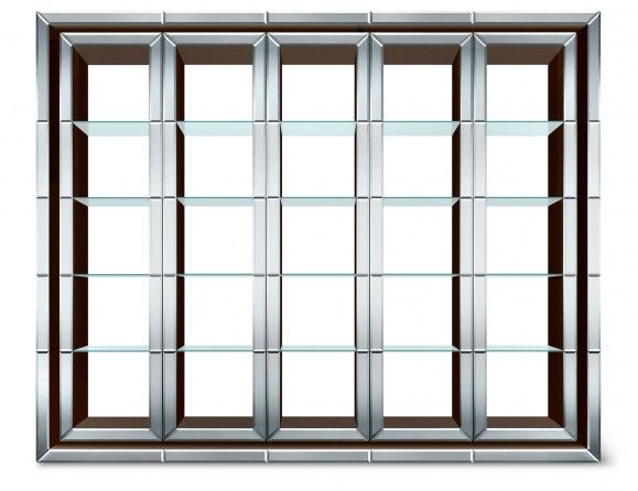 Nella Vetrina Dorian Roberto Cavalli Home Modern Luxury Italian Bookcase in Glass