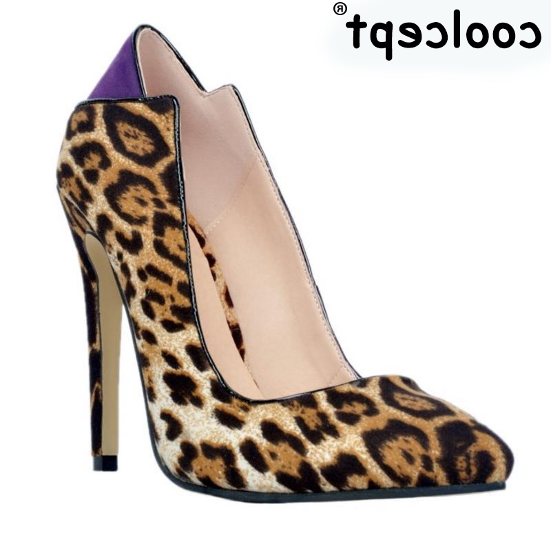 44.68$  Watch now - http://alik4d.worldwells.pw/go.php?t=32733012985 - Woman Pointed Toe High Heel Shoes Women Fashion Thin Heels Pumps Woman Sexy Leopard Party Heeled Footwear Shoes Size 34-47 44.68$
