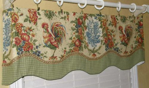 Details About French Country Farmhouse Lined Valance