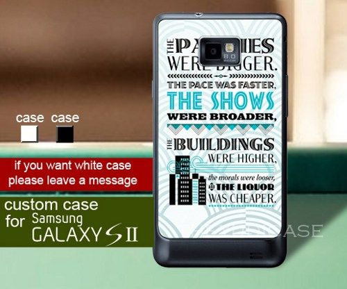Samsung Quote Impressive The Great Gatsby Quote  Samsung Galaxy S2 Case  Theyudicase . Inspiration Design
